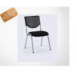 chaise de bureau  dosier  plastique abs noir