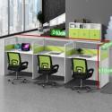 B2B Bureau avec separataion 3PERS vert blanc