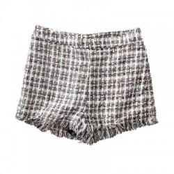 short taille haute tweed carreau noir et blanc TOPSHOP