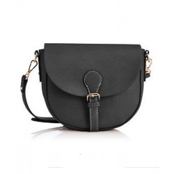 sac bandouliere demi lune cartable noir NEW LOOK