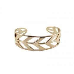 bracelet dore a motif