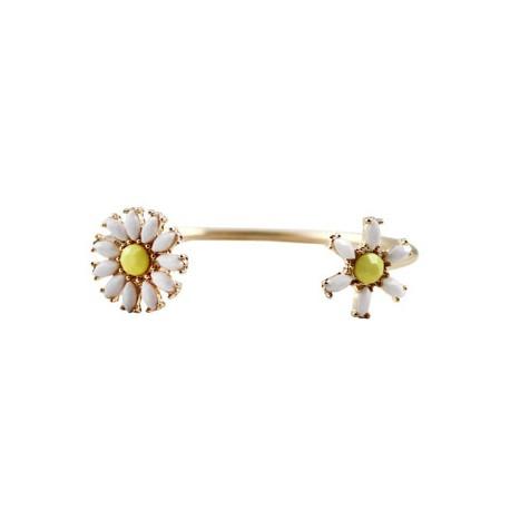 bracelet dore fleur jaune