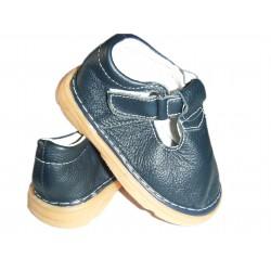 chaussures en cuir bleu nuit IN EXTENSO