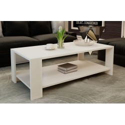 table basse rectangulaire noir noisette