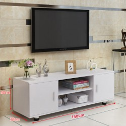 RABAIS A meuble TV melamine style moderne 2 portes