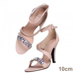 sandale talon nude pierre PRATO 10cm