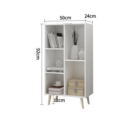 meuble scandinave multifonction melamine modulable 5 cases