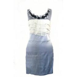 robe bleu gris