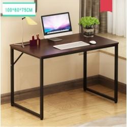 table multifonction  plateau melamine pieds metallique epure