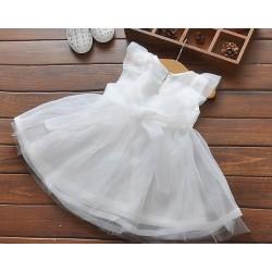 robe princesse mousseline voile blanc  unie