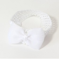 bandeau nœud en maille synthetique blanche