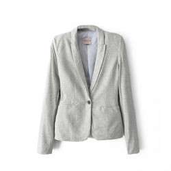 veste gris clair avec bouton noir BERSHKA COLLECTION