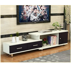 RABAIS B meuble tv etirable 1 porte 2 tiroir