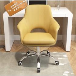 fauteuil de bureau a roulette vintage jaune