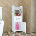 10.18meuble rangement toilette blanc PVC