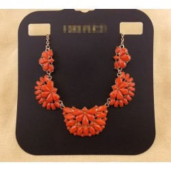 collier pierre rouge corail F21