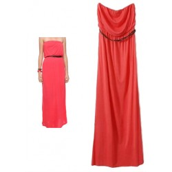 maxi bustier rouge corail F21