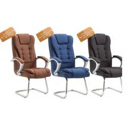 B2Bfauteuil de bureau en tissu bleu marine pieds en acier