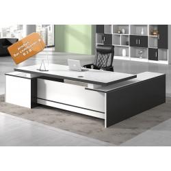 B2B table de bureau  luxe blanc avec rangement lateral