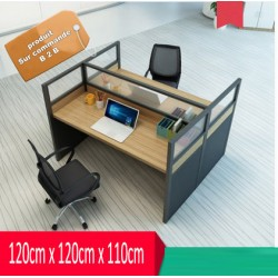 B2B table de bureau simple 2 poste face a face effet neutre
