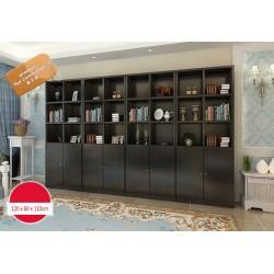 B2B meuble bibliotheque de bureau noir modulable (marron, effet neutre,blanc)