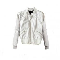 blouson blanc poche oblique THERAPY