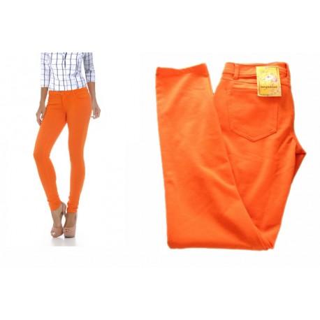 pantalon fluo orange LOVE STWEET