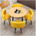 B2B table rond melamine Nordic avec 4 chaise capitonne