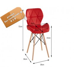 B2B chaise elegante capitonne simili scandinave