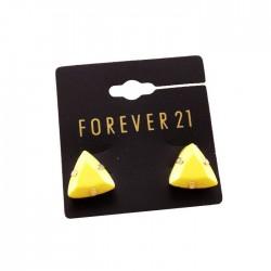 boucle plate triangle jaune F21