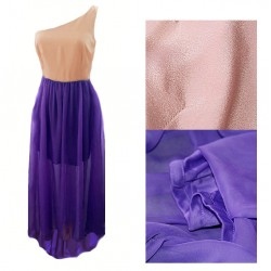 robe bicolore violet/rose F21