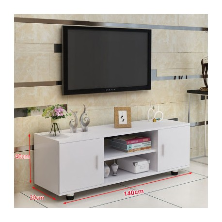 RABAIS B meuble TV melamine style moderne 2 portes