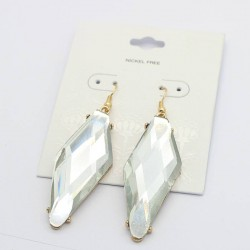 boucle pendante losange cristal NICKEL FREE