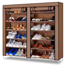 04.19 rangement chaussures double 36paires beige