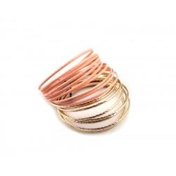 Bracelet serie doree et saumon F21