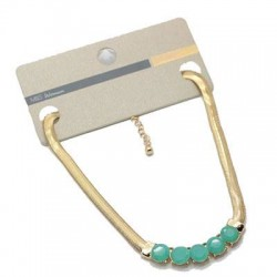 collier doree + mint green M&S woman