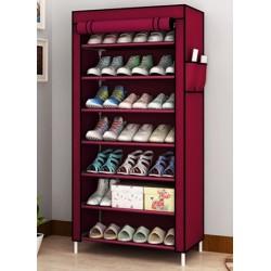 03.19 rangement 7 etages 21 paires porte chaussure bordeaux