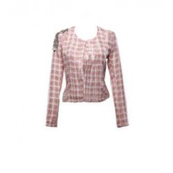 veste FRADIA carreau rose