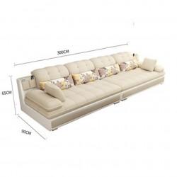 canape moderne en latex 4places avec accoudoirs couleur creme
