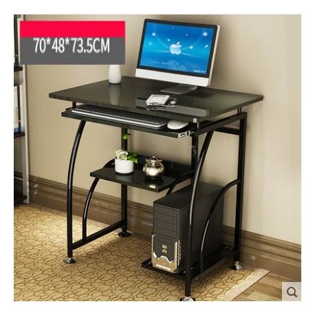 table ordinateur moderne noir simple