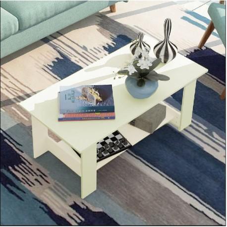 table basse rectangulaire noir noisette