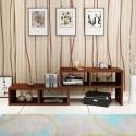 RABAIS B meuble TV melamine style moderne rectangle marron