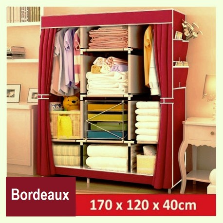 armoire demontable vetement ourson rose fillette
