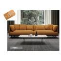 B2B sofa extra large masculin 4 personnes cuir veritable