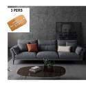 B2B sofa cozi tissu GRIS 3 pers
