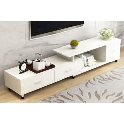 E07.19 meuble TV etirable 1 porte 2 tiroirs