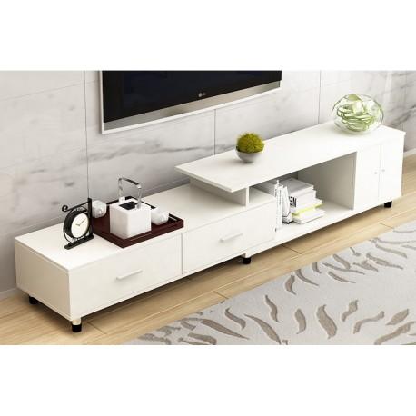 M03.19.5 meuble tv etirable 1 porte 2 tiroir