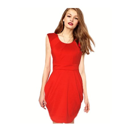 84995d25e89 robe rouge ceintree manche courte ONLY - www.fabric-mada.com