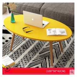 E03.20 Table basse scandinave ovale 1M Jaune