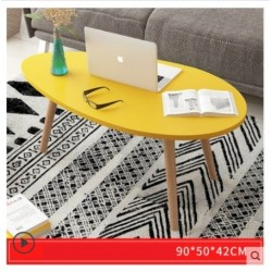 E03.20 Table basse scandinave ovoide 90 cm Jaune